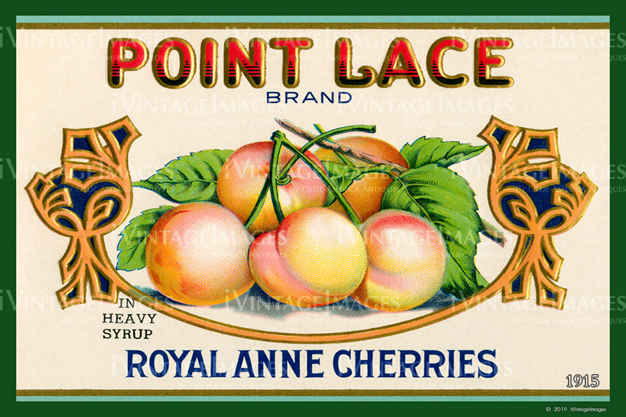 Point Lace Royal Anne Cherries 1915 - 024