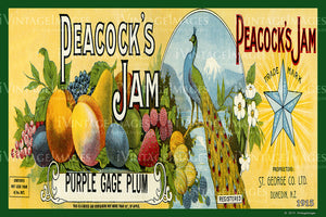 Peacocks Plum Jam 1915 - 032