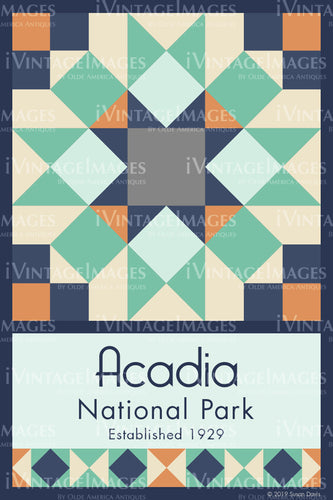 Acadia Quilt Block Design by Susan Davis - 1