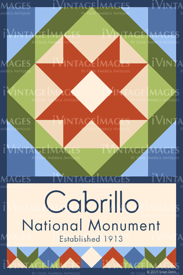 Cabrillo Quilt Block Design by Susan Davis - 13
