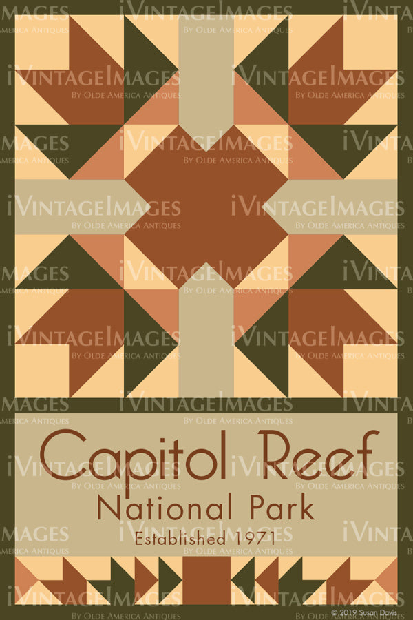 Capitol Reef Quilt Block Design by Susan Davis - 16