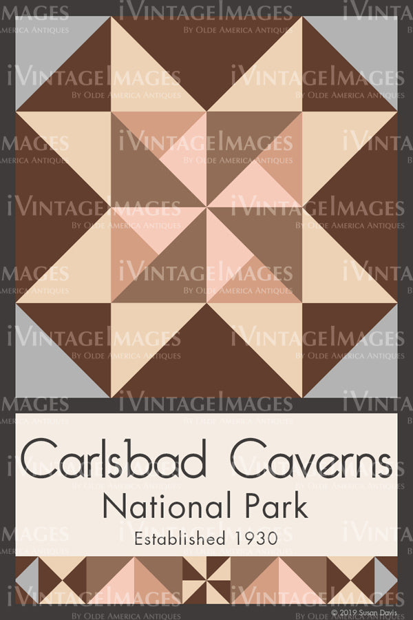 Carlsbad Caverns Quilt Block Design by Susan Davis - 17