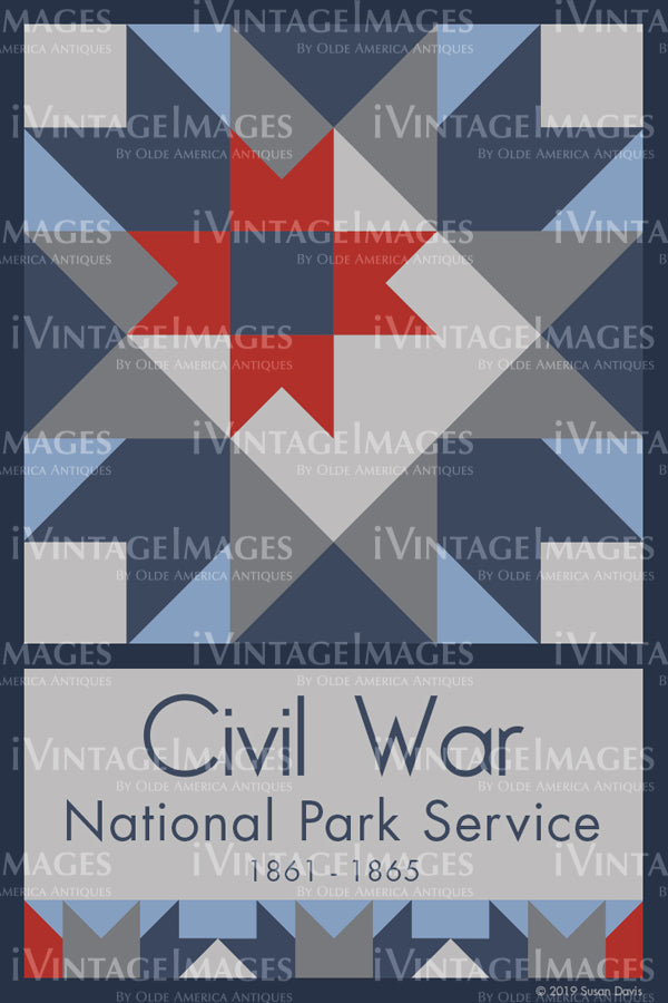 Civil War Quilt Block Design by Susan Davis - 20
