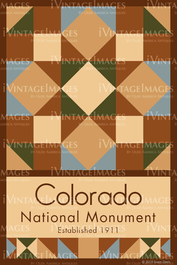 Colorado National Monument Quilt Block Design by Susan Davis - 21