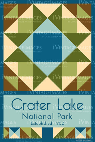Crater Lake Quilt Block Design by Susan Davis - 24