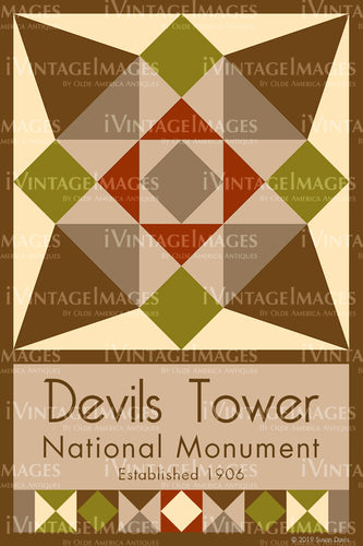 Devils Tower Quilt Block Design by Susan Davis - 29