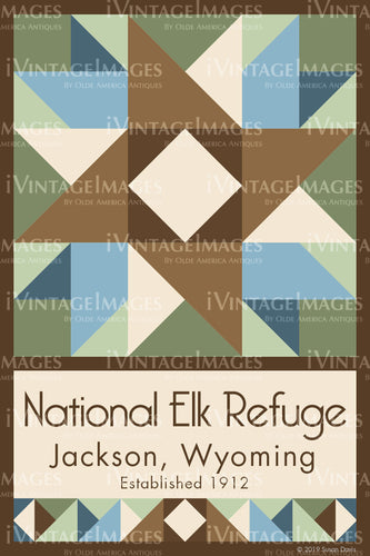 National Elk Refuge Quilt Block Design by Susan Davis - 31