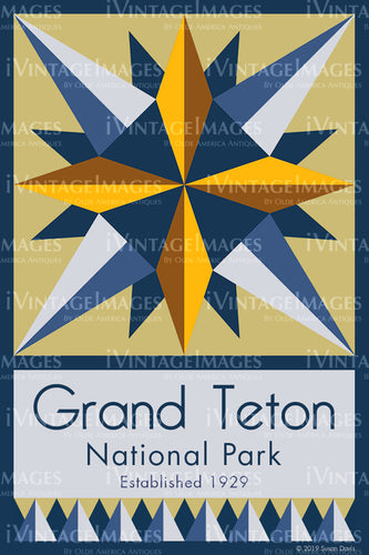 Grand Teton Quilt Block Design by Susan Davis - 38
