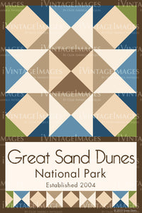 Great Sand Dunes Quilt Block Design by Susan Davis - 40