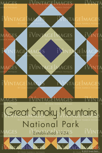 Great Smoky Mountains Quilt Block Design by Susan Davis - 41