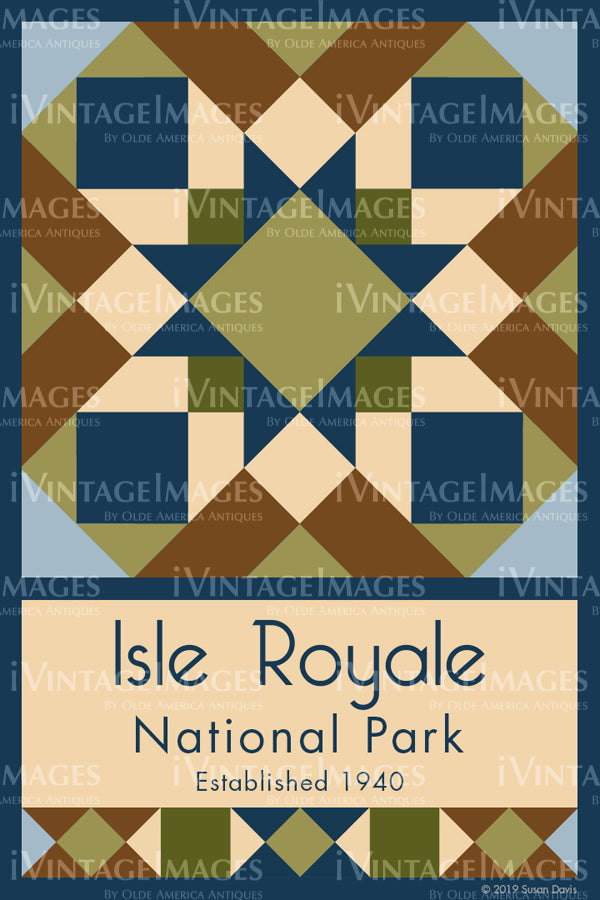 Isle Royale Quilt Block Design by Susan Davis - 47