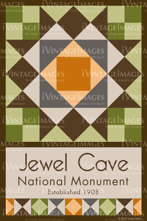 Jewel Cave Quilt Block Design by Susan Davis - 48