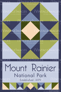 Mount Rainier Quilt Block Design by Susan Davis - 57