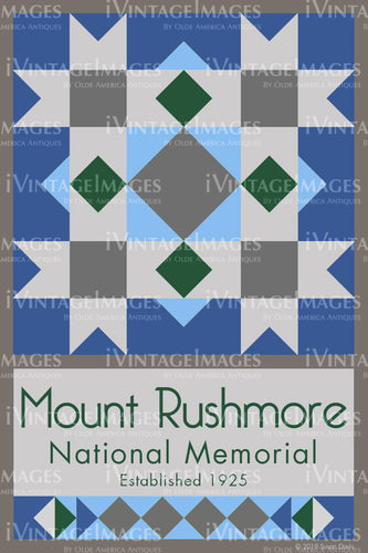 Mount Rushmore Quilt Block Design by Susan Davis - 58