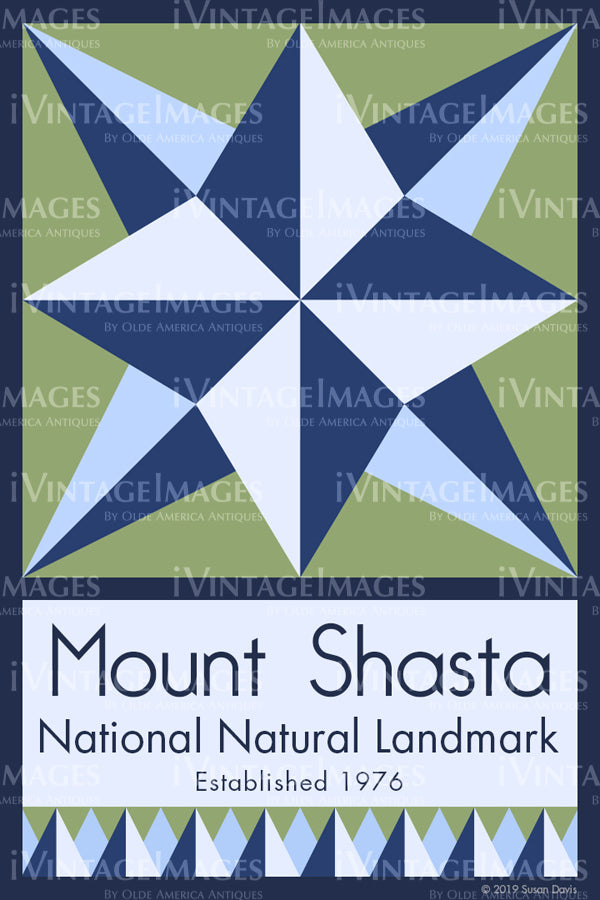 Mount Shasta Quilt Block Design by Susan Davis - 59