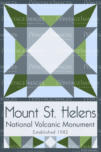 Mount St. Helens Quilt Block Design by Susan Davis - 60