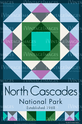 North Cascades Quilt Block Design by Susan Davis - 64