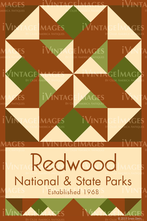 Redwood Quilt Block Design by Susan Davis - 74