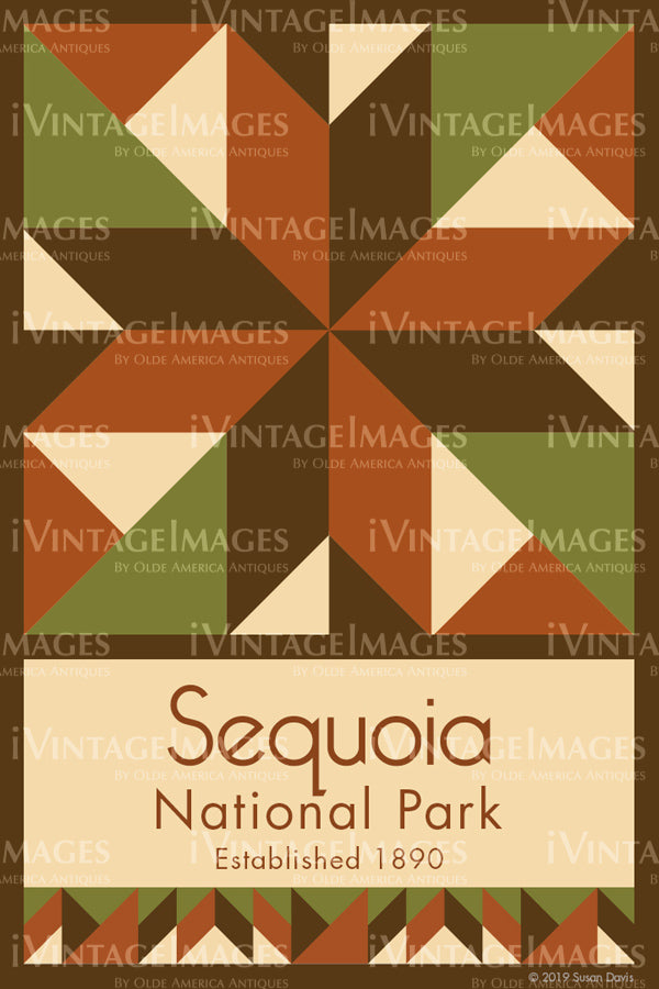 Sequoia Quilt Block Design by Susan Davis - 80