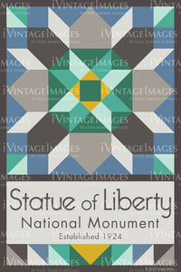 Statue of Liberty Quilt Block Design by Susan Davis - 82
