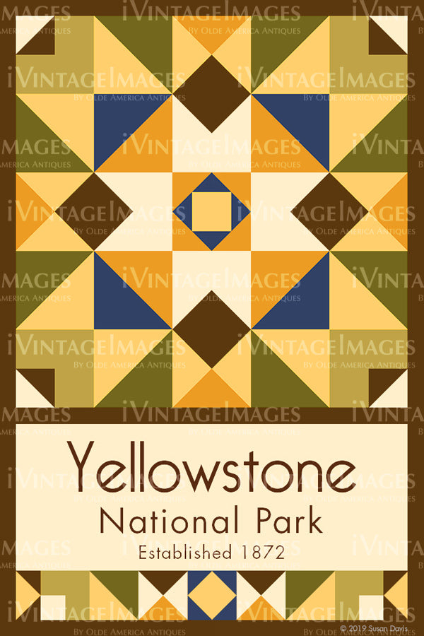 Yellowstone Quilt Block Design by Susan Davis - 87