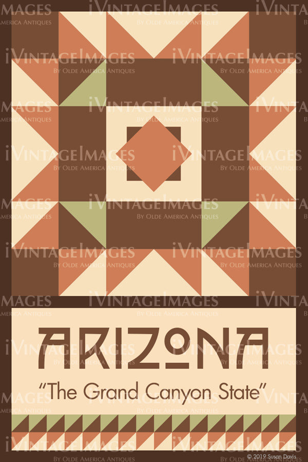 Arizona State Quilt Block Design by Susan Davis - 3