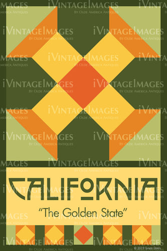 California State Quilt Block Design by Susan Davis - 5