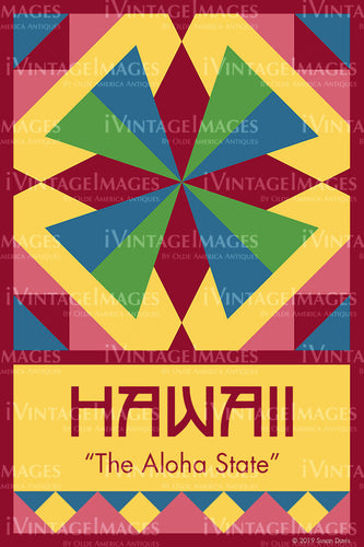Hawaii State Quilt Block Design by Susan Davis - 11