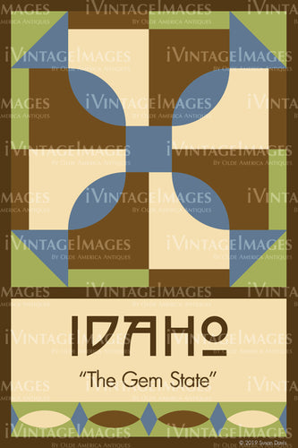 Idaho State Quilt Block Design by Susan Davis - 12