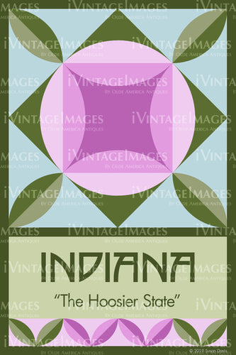 Indiana State Quilt Block Design by Susan Davis - 14