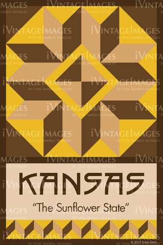 Kansas State Quilt Block Design by Susan Davis - 16