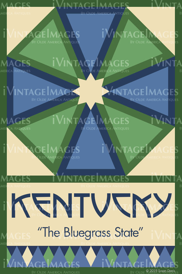 Kentucky State Quilt Block Design by Susan Davis - 17
