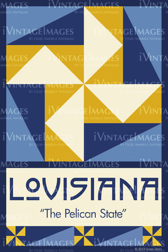 Louisiana State Quilt Block Design by Susan Davis - 18