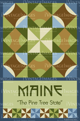 Maine State Quilt Block Design by Susan Davis - 19