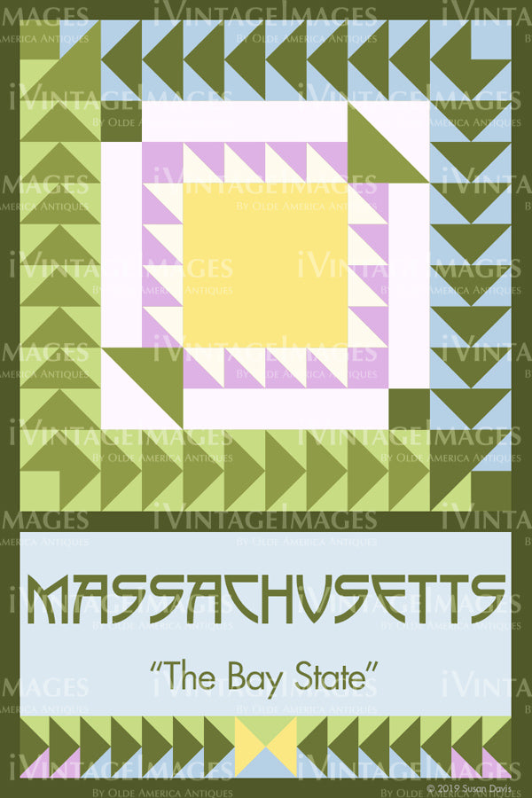 Massachusetts State Quilt Block Design by Susan Davis - 21