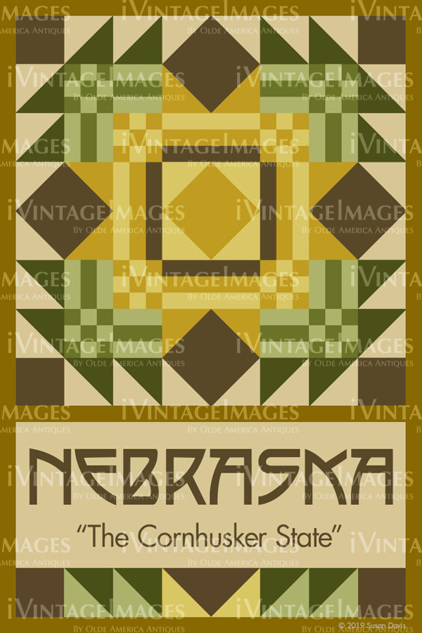Nebraska State Quilt Block Design by Susan Davis - 27