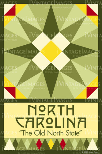 North Carolina State Quilt Block Design by Susan Davis - 33
