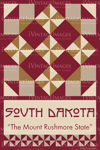 South Dakota State Quilt Block Design by Susan Davis - 41