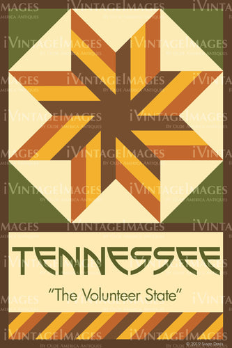 Tennessee State Quilt Block Design by Susan Davis - 42