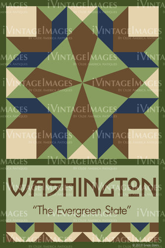 Washington State Quilt Block Design by Susan Davis - 47