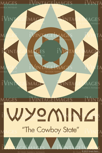 Wyoming State Quilt Block Design by Susan Davis - 50