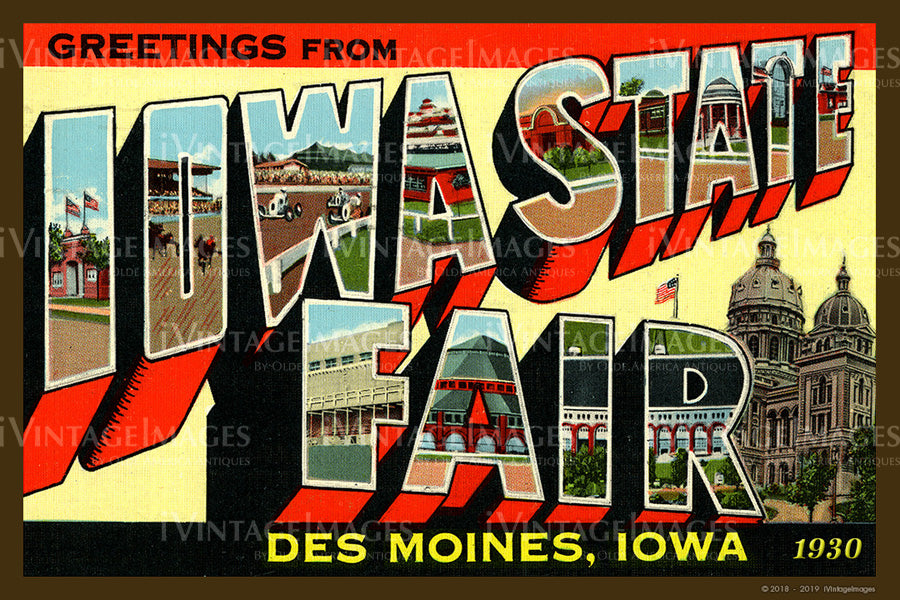 Iowa State Fair Postcard 1930 - 012