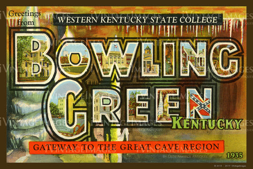 Bowling Green Kentucky Large Letter 1935 - 004