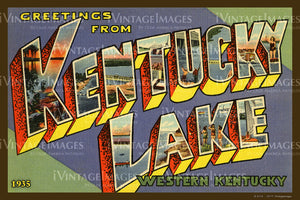 Kentucky Lake Kentucky Large Letter 1935 - 005