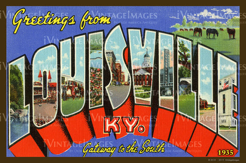 Louisville Kentucky Large Letter 1935 - 006
