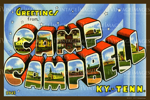 Camp Campbell Kentucky Large Letter 1945 - 009