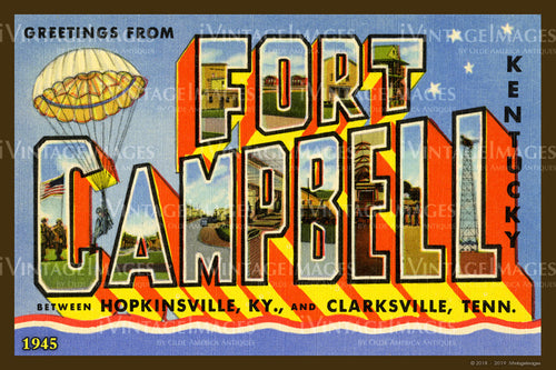 Camp Campbell Kentucky Large Letter 1945 - 010
