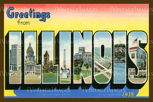 Illinois Large Letter 1930 - 013