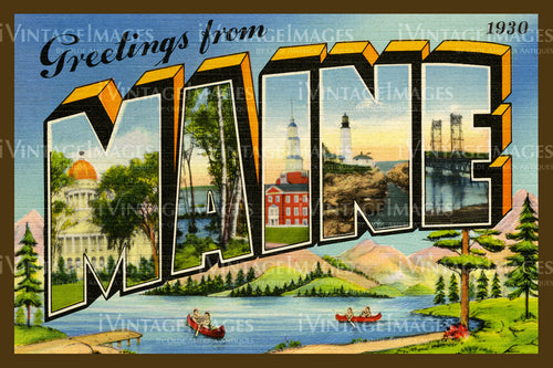 Maine Large Letter 1930 - 019