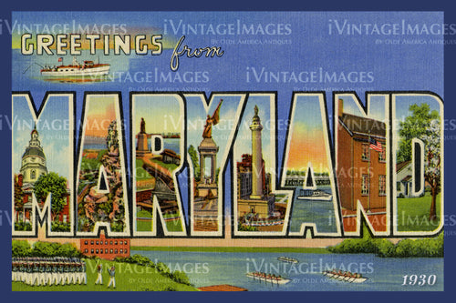 Maryland Large Letter 1930 - 020